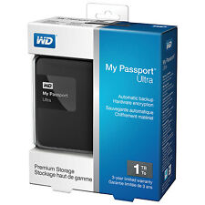 WD My Passport Ultra 1TB USB 3.0 Portable Extenal Hard Disk Drive