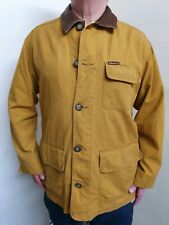 Marlboro classics Mustard Jacket Size Large With Tan Collar/ Pockets