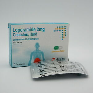 Flamingo Loperamide Diarrhoea Relief 2mg Capsules | 9 Packs of 6 Capsules (54)