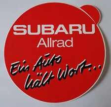 Aufkleber SUBARU Allrad 4WD Ein Auto hält Wort Impreza Legacy Forester Sticker