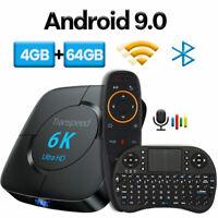 Android TV Box 4GB + 64GB 4K Media Player 3D Netflix IPTV 6K Keyboard Youtube
