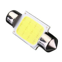 2 X C5W 36MM COB Dome Festoon 12 LED Voiture Ampoule DC 12V Blanc M3R7