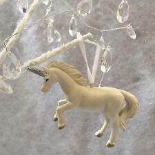 White Unicorn Hanging Decoration Christmas Tree Gisela Graham Fairy Theme