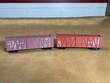 Accurail Ho Ann Arbor & Cnw 40' Boxcar Steel Ends #73839 & 147388 - Ln