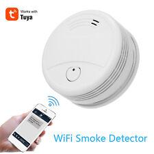 Tuya WiFi Smoke Alarm Fire Protection Smoke Detector Alarm Home Security System