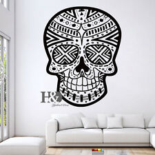 Sugar Skull Vinyl Decal Wall Sticker Skull Punk Rock Creative Sticker Wall Decor