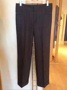 Oui 'Nicole' Wide Leg Trousers Size 16 BNWT Brown Grey RRP £109 Now £27
