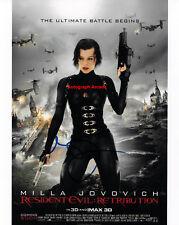 MILLA JOVOVICH Resident Evil Signed Original Autographed Photo 8x10 COA