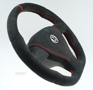 Custom steering wheel thick flat bottom VW Golf MK5 R mk V 5 Passat t5 R32 GTI