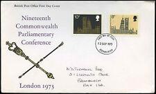 GB FDC 1973 Parliamentary Conference, Edinburgh FDI #C32386