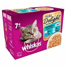 Whiskas 7+ Cat Pouch Pure Delight Fish in Jelly 12 x 85g - 262132