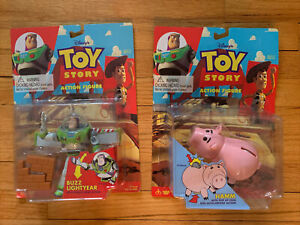 Disney Original Toy Story Action Figures Buzz Lightyear And Hamm