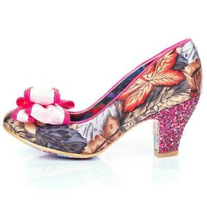 Ban Joe By Irregular Choice Womens Heels Court Shoes In Pink Floral