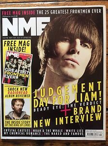 NME 26/02/11 Liam Gallagher/Beady Eye cover, 25 Greatest Frontmen supplement