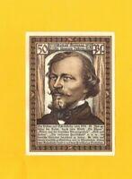 SIEBLEBEN / GOTHA ALLEMAGNE, BILLET-MONNAIE de NECESSITE illustré Gustav FREYTAG
