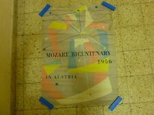 CLASSIC MUSIC ART Mozart Bicentenary Festival ORIGINAL AD POSTER 1956 AUSTRIA