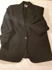 Vintage Sag Harbor 100% Wool Oversized Black Blazer Size 16