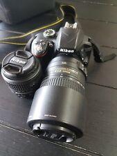 Nikon D3300 SLR Camera - Black, DX 18 - 55mm Lens, DX 55-300mm Lens, Bag