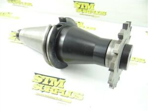 """BRINEY MILLING ARBOR CAT50 1-1/4"""" X 4"""" +1/4"""" X 4"""" CARBIDE TIPPED MILLING CUTTER"""