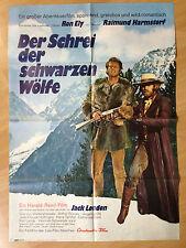 Filmposter * Kinoplakat * A1 * Der Schrei der schwarzen Wölfe * EA 1972