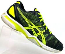 Asics Gel-Solution Speed Black/Yellow Lace-up Running Shoes E200N Men's 7