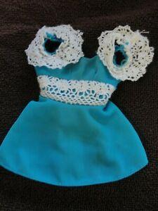 Mattel Mod FRANCIE Fashion: 1965 HAIR HAPPENIN'S #1122 Blue Mini Doll Dress