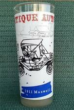 Vintage Antique Autos 1911 Maxwell 16 oz Frosted Etched Ice Tea Water Glass