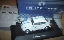 NEU**OVP**VW 1302**Police Cars** BELGIEN***SEHR Seltenes Modell**Editions Atlas