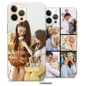 PERSONALISED PHOTO PHONE CASE FOR IPHONE 11 XR 7 8 12 PRO COLLAGE SILICONE COVER