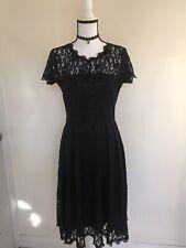 Gothic Lace Black Lolita Princess Dress Size M