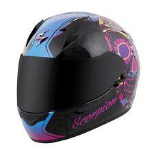 SCORPION EXO-R410 Dia De Los Muertos Sugar Skull Motorcycle Helmet Pink SIZE XS