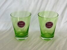 2x Cocktail Iced Juice Beverage Glasses Ombre Green Handmade in Poland