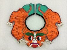 Rare Old Chinese Embroidery Baby Collar-Tiger