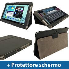 Nero Eco Pelle Custodia per Samsung Galaxy Tab 2 10.1 P5100 P5110 3G WiFi Cover