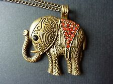 Elephant Necklace,With Long Chain,Gift Idea,Fashion/Costume,Pretty!