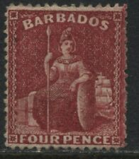 Barbados 1875 4d scarlet unused no gum