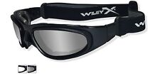 Wiley X SG-1 Goggles Matte Black Frame Smoke Grey & Clear Lenses Sunglasses #71