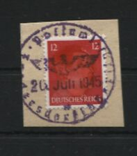 Lokalausgaben Fredersdorf III auf Briefstück Rarität altgeprüft (B08245)