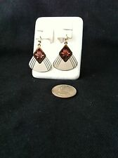 Laurel Burch Gold Tone Dangle Earrings - Vintage