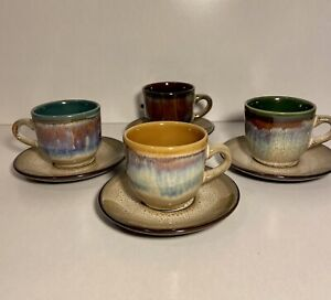 Tea Cups & Saucers Gibson Home Grand Milano Service For 4