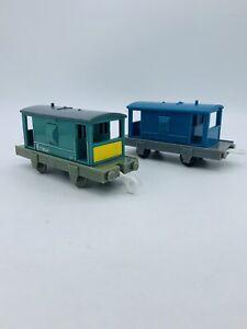 Thomas & Friends Trackmaster Cargo Lot Cabooses Brake Van Cargo Cars Blue