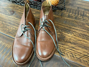 Men's Cole Haan Leather Chukka Boots Reddish Brown Size 8.5 M