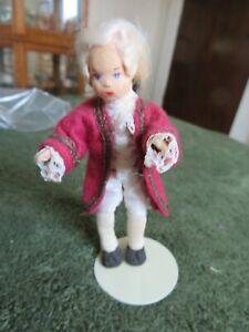 "cute 4 1/2"" tall dollhouse doll - Colonial gentleman"