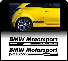 For BMW 2 x MOTORSPORT RACING CHECKS - Body Panel - CAR DECAL STICKER ADHESIVE