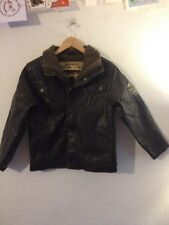 Hawke & Co Faux Leather Jacket Size 10/12 Chestnut Brown <R10515