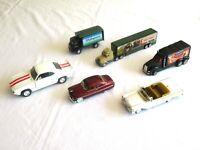 LOT of 6 DIECAST Vehicles Sports Cars Trucks Trailer Semi Camero Mercury AHL