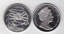 FALKLAND ISLANDS - NEW ISSUE 1 CROWN UNC COIN 2018 YEAR SEA CRAB