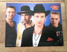 U2 'hats' magazine PHOTO/Poster/clipping 11x8 inches