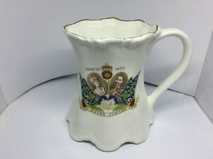 Vintage Rare Silver Jubilee Queen Mary King George V Royal Mug 1910 to 1935