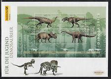 K 01 ) Germany 2008 Big FDC Plateosaurus. Tyrannosaurus. Triceratops. Diplodocus